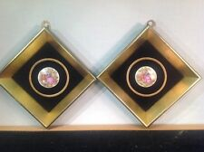 Vintage Porcelain Cameo Framed Pictures By B&S Creations New York City NY
