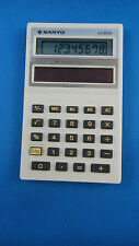 Vintage Sanyo CX 2570 Amorphous Solar Cell Calculator / With Case