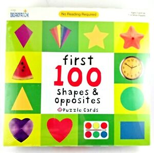 BriarPatch First 100 Shapes & Opposites Puzzle Cards Matching Game Ages 2+ NEW