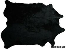 Extra largegenuine cowhide rug black