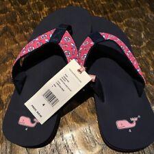 a770e0633 New VINEYARD VINES Size 4 Big Kids Women Beach Summer Flip-Flop Thong Sandal