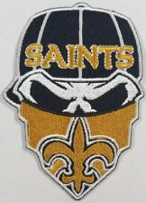 New Orleans Saints~Iron On Skull with Bandana Patch~Free Shipping from the USA~