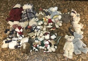 Boyds Bears & Friends Lot Of 40 With Hang Tags Miniature Large
