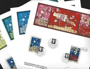 Israel 1990 Ardon Windows First Day Souvenir Folders signed by stamp artist
