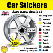 Mazda RX8 Roue Alliage Stickers Autocollants 60 mm x 9 mm GRATUIT UK ENVOI