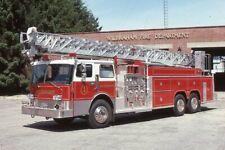 Wilbraham MA Ladder 1 1980s Pirsch 100' Rear Mount Aerial - Fire Apparatus Slide