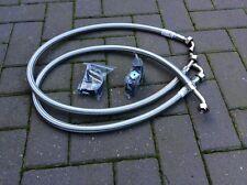 MGB , Mgb gt 1963 -1971 Pair S/Steel Braided oil cooler hoses INC clamp BAY23-B2