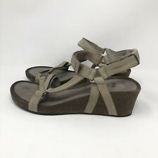 Teva Ysidro Universal Wedge Womens Leather Walking Ankle Strap Sandals Sz 10
