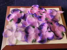 "Vtg Millinery Flower Collection 6 1/2"" Filmy Petal Purple Pink Fairy Wing H1911"