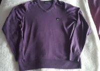 Bench Men's Jumper Size Medium Purple V Neck