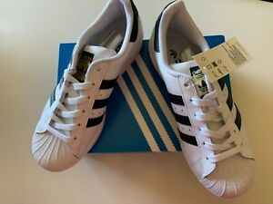 NEW Adidas Superstar FV3284 US Women's 7.5 Shoes CLOUD WHITE/ CORE BLACK $85