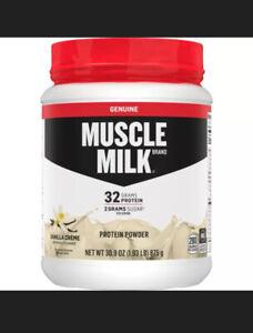 Muscle Milk Genuine Protein Powder Vanilla 32g Protein 1.9 Lb Exp 10/20