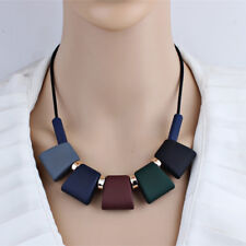 Women Short Necklace Statement Sweater Chain Necklaces & Pendants Colorful Beads