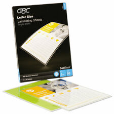 New listing Gbc® SelfSeal Single-Sided Letter-Size Laminating Sheets, 3 mil, 9 x 12 3747307