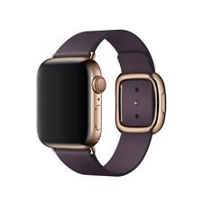 Apple Modern Buckle Leather Watch Band Strap - 38mm / 40mm - Large - Aubergine