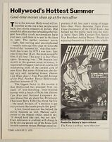 1978 Magazine Photo Star Wars Poster Carrie Fisher, Mark Hamill, Harrison Ford