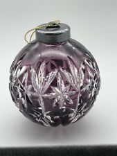 Christmas Glass Cracker Purple Handmade Photophore