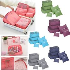 6 X Packing Cube Storage Bags Luggage Organizer Pouch Travel Clothes Waterproof