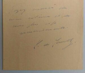 Lettre Manuscrite Autographe Charles De Gaulle - Colombey 1936 - Not Facimile
