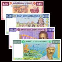 Djibouti  Set 4 PCS,1000,2000,5000,10000 Francs, P42-45, Banknotes, UNC