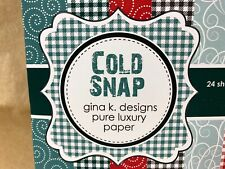 Gina K Designs 6 x 6 Cold Snap Patterned paper 24 sheets