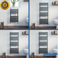 Designer Flat Panel Heated Bathroom Towel Rail Radiator Rad Anthracite Grey