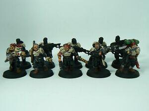 Cadian Shock Troops 40k Games Workshop 10 Man Squad Painted (B)