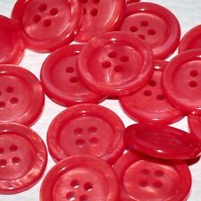 Mercerie lot de 5 Boutons plastique rouge irisé 17mm button