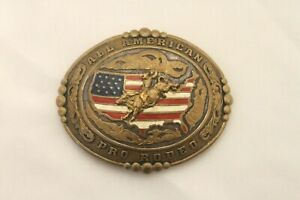 Vintage Large Crumrine Belt Buckle All American Pro Rodeo