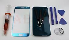Light Blue Front Lens Screen Glass Replacement for Samsung Galaxy S6 UV Tools