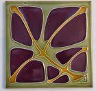 Purple Flower RAR SERVAIS Art Nouveau Tile Secessionist Carreau 1900 Jugendstil