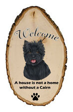 Outdoor Welcome Sign (Tp) - Black Cairn Terrier 94081