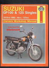 USED Suzuki GP100,GP125 (1978-1992) Haynes Work-Shop Manual GP 100/125,GP100U