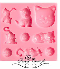 Kitten Cat Silicone Cake Mould Mold Fondant Icing Cup Cake cup Modeling