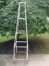 Vintage Iron Shabby Garden 5 Tier Obelisk Shelf Plant Stand