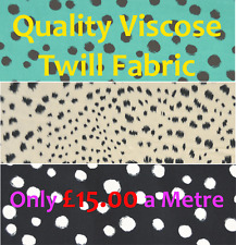 Viiscose Twill Fabric Summer Clothing, Blouses, Skirts, Dresses, 3 Patterns