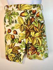 Vintage Tropical Mens Shorts Waist 33 Palms Neon Green Olive Vine Fruit Handmade