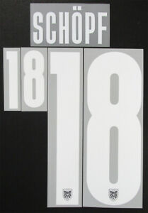 2020 2021 OFFICIAL AUSTRIA HOME WHITE NAME SET SCHOPF 18 = PLAYER SIZE
