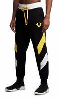 True Religion Men's Chevron Panel Horseshoe Logo Jogger Sweatpants - 101958