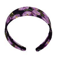 DOLCE & GABBANA Tulip Flower Floral Headband Hairband Purple Black 06378