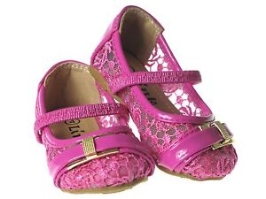 Baby Toddler Girls Lace Crochet Slip-On Flats Shoes Princess Costume Sz-4-8