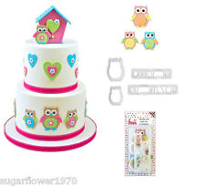 FMM Mummy and Baby Owl Cutter Set for sugarcraft  cake decorating