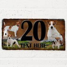Personalised Jack Russell Terrier Dog Gate Door House Slate Sign Number Plaque