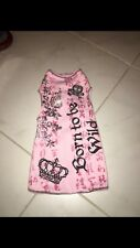 New listing Born to be wild pet dog shirt pink L large