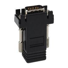 2pc Extender VGA RGB HDB 15p  to LAN CAT5 CAT6 RJ45 Network Cable Female Adapter