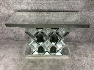 CONTEMPORARY BEVELLED EDGE MIRRORED CONSOLE