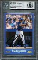 1988 score #186 RAFAEL PALMEIRO chicago cubs autograph BGS AUTHENTIC
