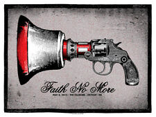 FAITH NO MORE silkscreened poster Detroit 2015 by Lil Tuffy