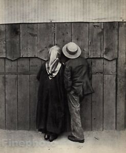 1920/72 Vintage ANDRE KERTESZ MAN & WOMAN CIRCUS Budapest Hungary Photo 11x14