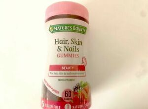 Nature's Bounty Hair, Skin & Nails Gummies - Beauty Food Supplement 60 Gummies